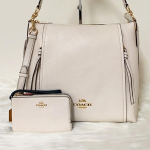 ⚜Coach Marlon Hobo  Purse and Wallet Set